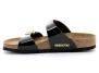 birkenstock sydney birko-flor® noir-or bk1000551 femme-chaussures-mules-sabots