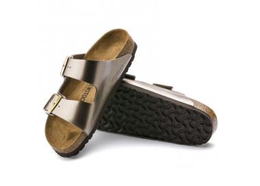 birkenstock arizona w taupe-metal bk1012972 75,00€