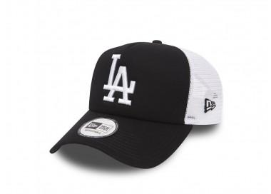 New Era LA Dodgers Clean Trucker Cap - 11405498 - OFFSHOES.FR black-white 27,00€